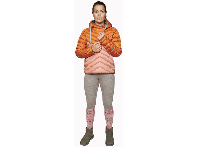 Varg Älgön Downhood Anorak Damen retro orange/pawn pink